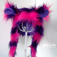 CHESHIRE CAT Super Plushie Fuzzy Monster by MostlyMonstersCV