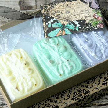 3 Bar Soap Gift Set . The French Collection . Soap Gift Box . Christmas Gifts For Women . Gifts for Mom Best Friend Sister CoWorker Ideas