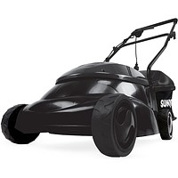 """14"""" 12 Amp Electric Lawn Mower with Grass Bag, Black, 29 pounds."""