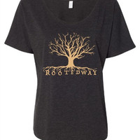 Women's Slouchy Tee~Signature Rooted Way