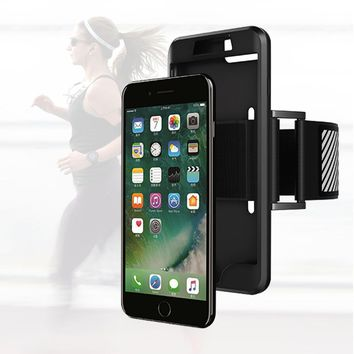 Adjustable Phone Case+Arm Band For Apple iPhone 6s Case Jogging Belt Cover For iPhone 7 Case Silicone Housing Full Fitted Case
