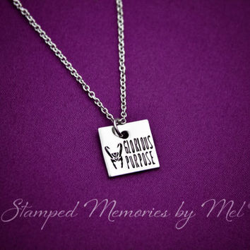 Glorious Purpose - Hand Stamped Fangirl Jewelry - Avengers Necklace - Norse Mythology - Burdened with Glorious Purpose - Geekery - Fandom