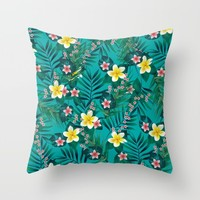 Tropical Pattern Throw Pillow by Ashley Hillman