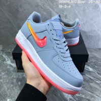 HCXX N828 Nike Wmns Air Force 1 SE PRM Jelly Sky Blue White Liquid Air Force Crystal Hook Leisure Sports Board Shoes