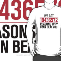 I've Got 18436572 Reasons Why I Can Beat You by Albany Retro