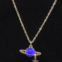 Saturn Star Necklace