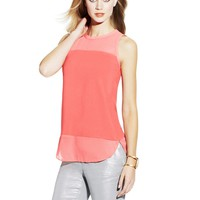 Two by Vince Camuto Mixed Media Tank