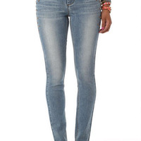 Double-Button Embellished High-Waisted Jegging