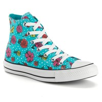 Converse Chuck Taylor All Star Women's Floral High-Top Sneakers (Blue)