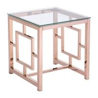 Geranium Side Table Rose Gold Polished Stainless Steel