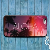 iPhone 4 4s 5 5s 5c 6 6s plus iPod Touch 4th 5th 6th Generation Cool Purple Pink Tropic Palm Tree Aloha Cute Phone Cover Custom Beach Case