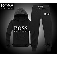 Boys & Men Hugo Boss Fashion Casual Top Sweater Pullover Hoodie Pants Trousers Set Two-Piece