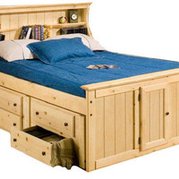 Lowell Full Size Bookcase Captain's Bed