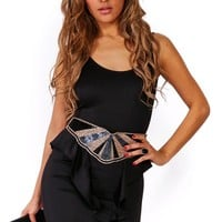 Trendy Cute black backless peplum pencil party dress for cheap. Womens Clothing -1015store