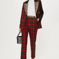 Mixed Tartan Check Trousers - New In Fashion - New In