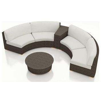 2016 All Weather Outdoor 4 Piece Furniture Round Sofa Sectional Set