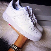 NIKE AIR FORCE 1 fashion classic men and women all-match casual white shoes sneakers-2