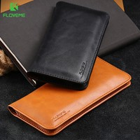 FLOVEME Leather Wallet Case For Samsung Galaxy Note 8 S8 S8 Plus S7 S6 Edge 5.5 Inch Cases For iPhone X 8 7 6 6S Plus Phone Bags