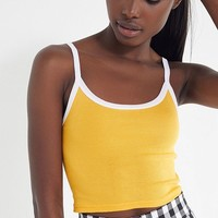 Out From Under Drop Needle Cropped Cami | Urban Outfitters
