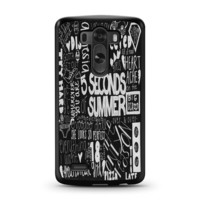 5 Seconds of Summer Songs Collage Black For LG G3 Case
