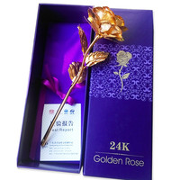 (valentine's day gifts 2016) 24k gold foil plated rose lover's Gold Dipped Rose artificial flower
