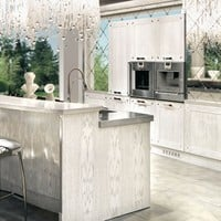 LACQUERED OAK KITCHEN WITH ISLAND PAPILLON | LACQUERED KITCHEN | BRUMMEL CUCINE
