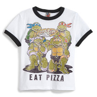 Junk Food Boy's Eat Pizza Ninja Turtle Tee