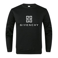 GIVENCHY Trending Women Men Leisure Print Cute Sweater Top Black
