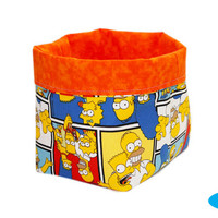 NEW Simpsons Fabric Storage Bin | Bedroom Storage | Desk Organizer | The Simpsons | Room Storage Bin | Basket
