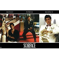 Scarface Money Power Respect Collage Poster