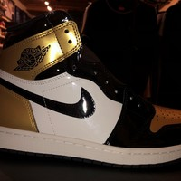 "Air Jordan 1 ""Gold Toe"" Sneaker"