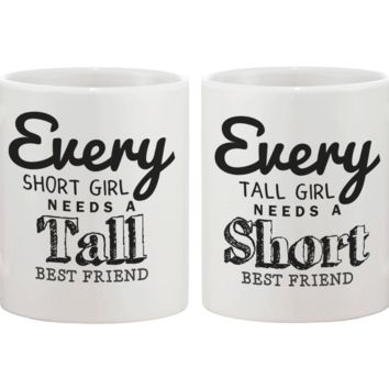 Short and Tall BFF Coffee Mugs