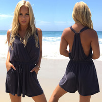 Backstreet Romper In Charcoal Grey