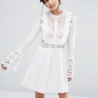 Endless Rose Bell Sleeve Dress with Tied Ribbon at asos.com