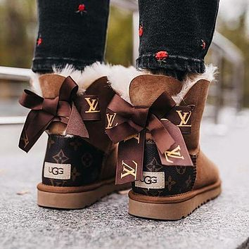 UGG LV Louis Vuitton Bow Boot Snow Boots Shoes
