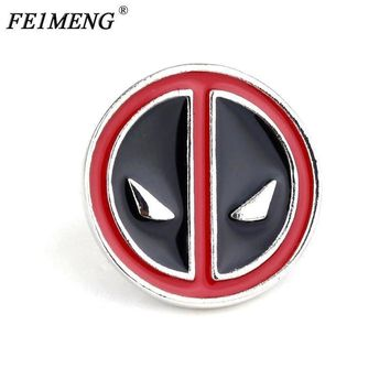 Deadpool Dead pool Taco Popular Anime  Mask Brooch Face Red Enamel Metal Pin Badge Brooches For Women And Men Fashion Jewelry Accessories AT_70_6