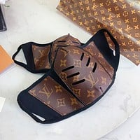 Louis Vuitton LV Best-selling Spliced Printed Highest Safety Mask (Safely Sterilized)