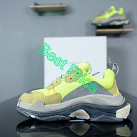 Latest and Newest Balenciaga Triple S Neon Yellow shoe