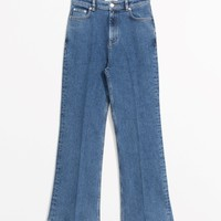 & Other Stories | Cropped Flared Denim Jeans | Blue