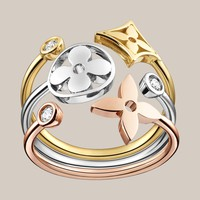 Monogram Idylle ring in white, yellow and pink gold with diamonds - Louis Vuitton  - LOUISVUITTON.COM
