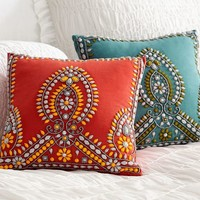 Multi Colored Beaded Pillow