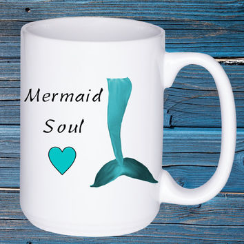 Mermaid Soul Beach Cottage Home Decor Funny by Wave of Life™