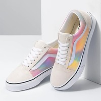 Vans new couple gradient tie-dye low-top sneakers