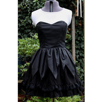 gothic Lolita witch dress. Perfect for Halloween. strapless with 3 layer skirt