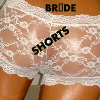 Bridal Lingerie,Bride,Knickers,White Knickers,White Shorts,Lace Panties,White Lace Panties,Bride Panties, Wedding Bridal Lingerie,Lingerie