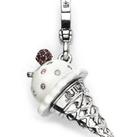 Juicy Couture - Gelato Ice Cream Cone - Silver Plated Charm
