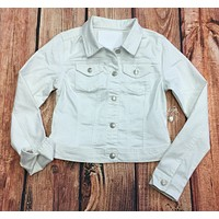 Casual Life White Jean Jacket