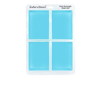 Silicone Soap Mold, GLOSSY Basic Rectangle 1601