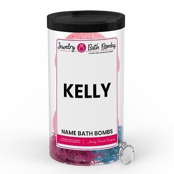 KELLY Name Jewelry Bath Bomb Tube