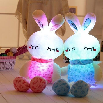 """Plush Adorable Light Up Bunny. Approx 28"""" Tall"""